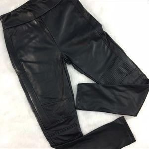 Elodie Faux Leather Moto Leggings Size XL